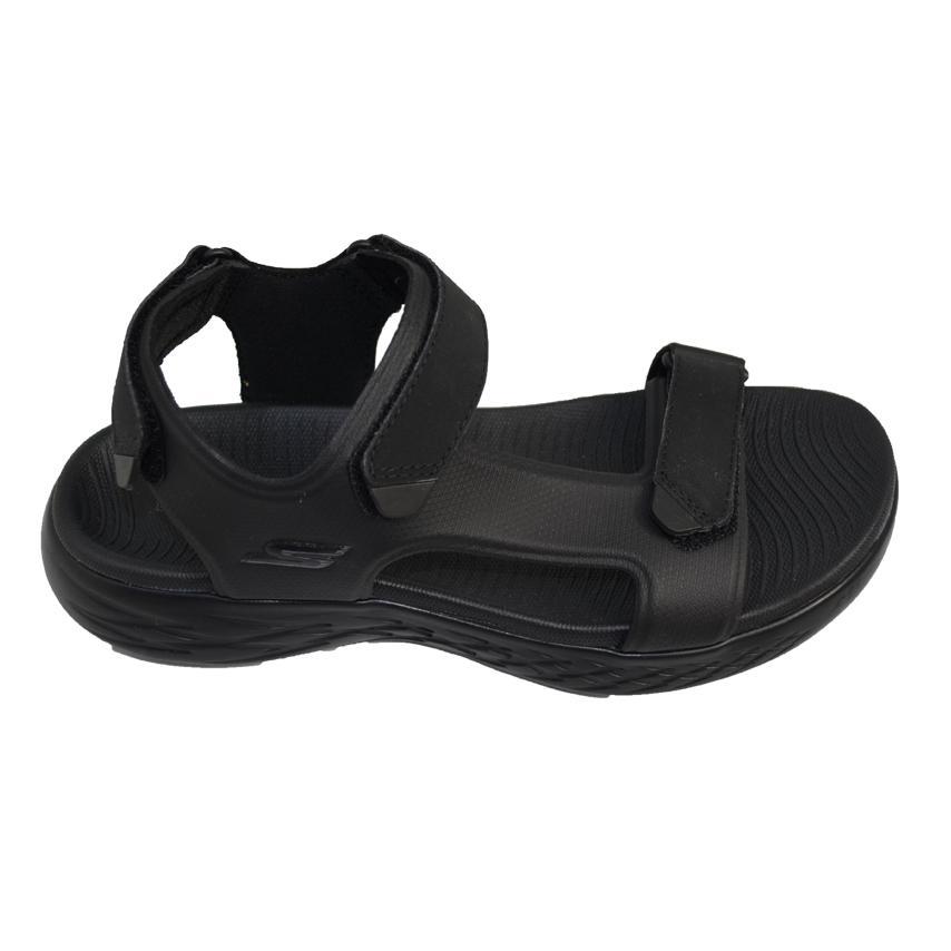 Skechers Sandalias Para Hombre negro Goma Tiempo Libre De shCtrdQ